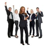 Female with her business colleagues Stock Images
