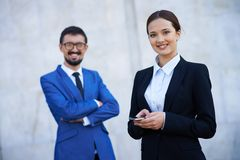Female and her business partner Royalty Free Stock Image