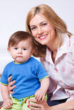 Female with her son Royalty Free Stock Photo