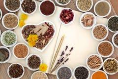 Female Herbal Medicine Stock Photo