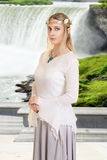 Female high elf with waterfall Stock Photography