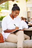 Female High School Student Wearing Uniform On School Campus Stock Photography
