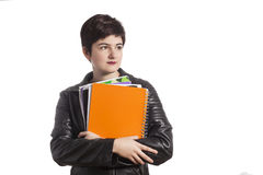 Female high school student Royalty Free Stock Photography
