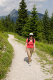 Female hiker in the austrian alps Stock Images