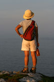 Female Hiker from Behind Royalty Free Stock Photo