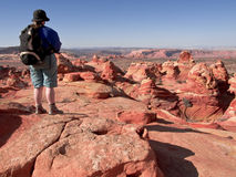 Female hiker at Coyote Buttes Stock Photos