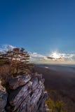Female hiker enjoying a beautiful Appalachian mountain vista Stock Photography