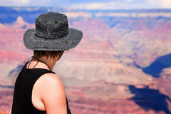 Female hiker at the Grand Canyon Stock Image
