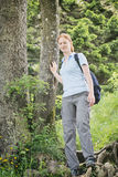 Female Hiker on Mountain Adventure Royalty Free Stock Photos