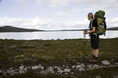 Female Hiker on the Southern Kungsleden Royalty Free Stock Photography