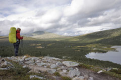 Female Hiker on the Southern Kungsleden Stock Image