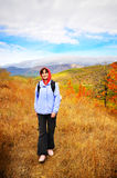 Female hiker on track Stock Photography
