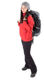 Female With Hiking Attire I Royalty Free Stock Photos