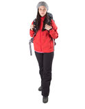 Female With Hiking Attire II Stock Photo