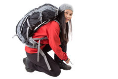 Female With Hiking Attire V Stock Photos