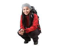 Female With Hiking Attire VI Royalty Free Stock Photo