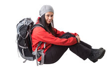 Female With Hiking Attire VII Royalty Free Stock Photography