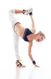 Female Hip hop Dancer. Over White Background stock photo
