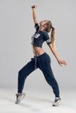 Female Hip Hop Dancer in Tiptoe Position Stock Photos