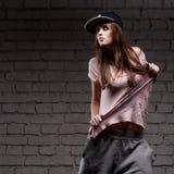 Female hip-hop dancer Stock Images