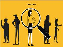 Female Hired with Lens Focus royalty free illustration
