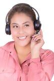 Female hispanic customer representative with Stock Photos