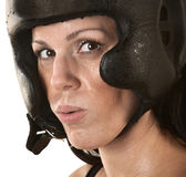Female Hispanic Fighter Stock Photography