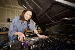 Female Hispanic Mechanic stock photo