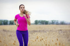 Female Hispanic Runner Royalty Free Stock Image