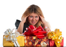Female holiday Stock Images