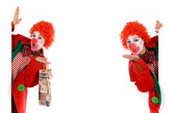 Female holiday clown Stock Image