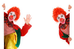 Female holiday clown Royalty Free Stock Photography