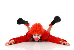 Female holiday clown Royalty Free Stock Images