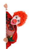 Female holiday clown Royalty Free Stock Photo