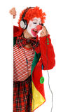 Female holiday clown headset Royalty Free Stock Images