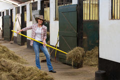 Female horse breeder Royalty Free Stock Photography