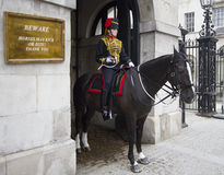 Female Horse Guard Royalty Free Stock Photography