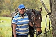 Female horse rider Stock Photos