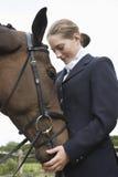 Female Horseback Rider With Horse Royalty Free Stock Photo