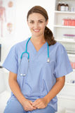 Female hospital doctor Stock Image