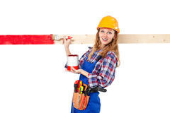 Female house painter Stock Image