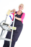 Female house painter Stock Photos