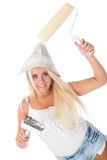 Female house painter Stock Photography