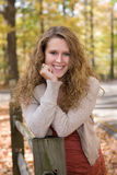 Female HS Senior Portrait. Senior portrait of beautiful high school senior girl at Mounds Park in Anderson, IN Royalty Free Stock Images