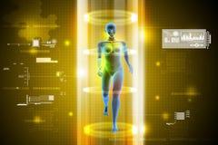 Female human body charging Royalty Free Stock Photo