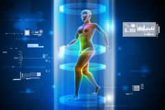 Female human body charging Royalty Free Stock Photography