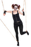 Female human puppet looks creepy Royalty Free Stock Images