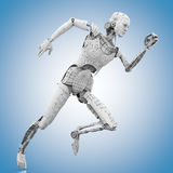 Female humanoid is running. 3D rendering: female humanoid is running Royalty Free Stock Photos