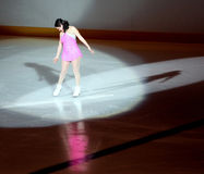 Female ice skater. Royalty Free Stock Photography