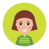 Female icon for avatar. Stock Image